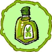 Illustration of an olive oil bottle